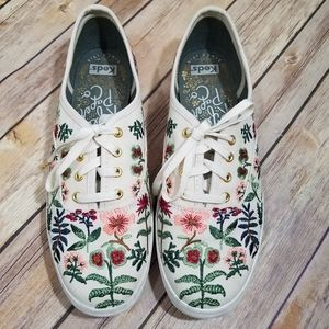 Keds Rifle Paper embroidered sneakers